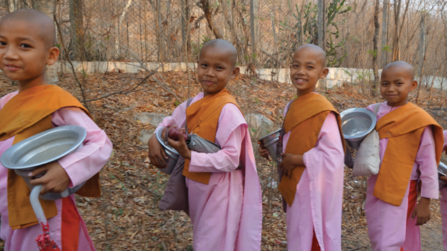 Nuns in Mandalay, Myanmar