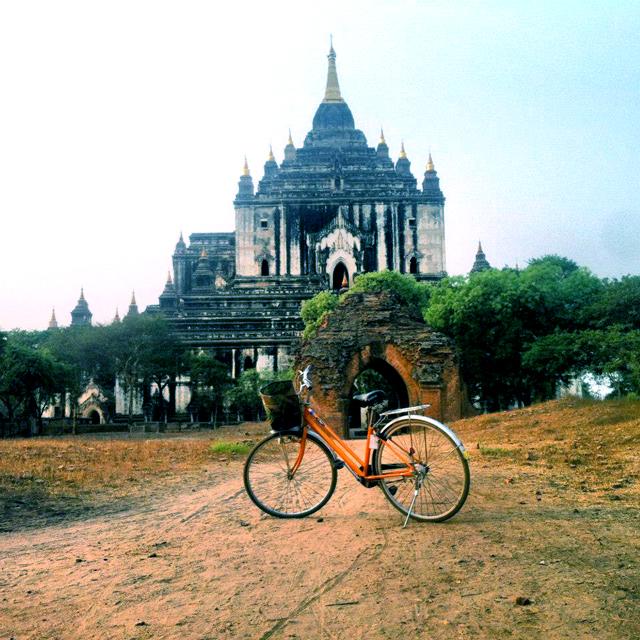 Biking in Myanmar Burma