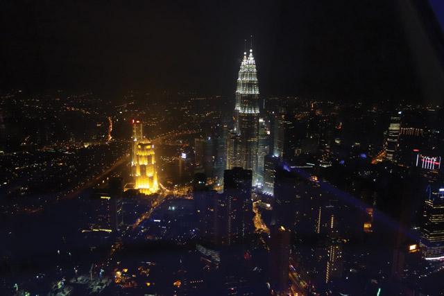 Kuala Lampur at night, Malaysia