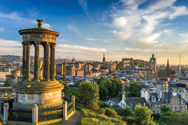 View from Calton Hill, Scotland