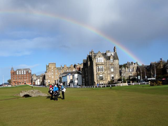 St Andrews Old Course Scotland Golf Rainbow