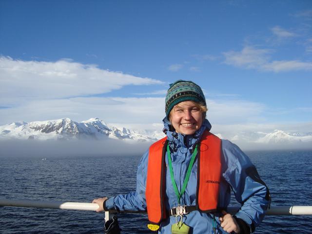 Jenny in Antarctica