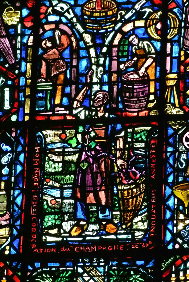 Jacques Simon, Champagne Windows, Cathedral of Notre Dame, Reims, France