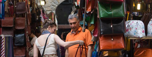 San Lorenzo Leather Market, Florence Italy