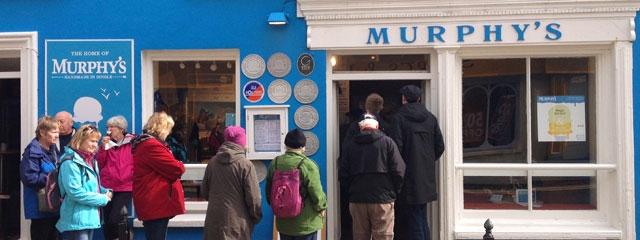 Murphy's ice cream in Dingle, on the Dingle Peninsula of Ireland