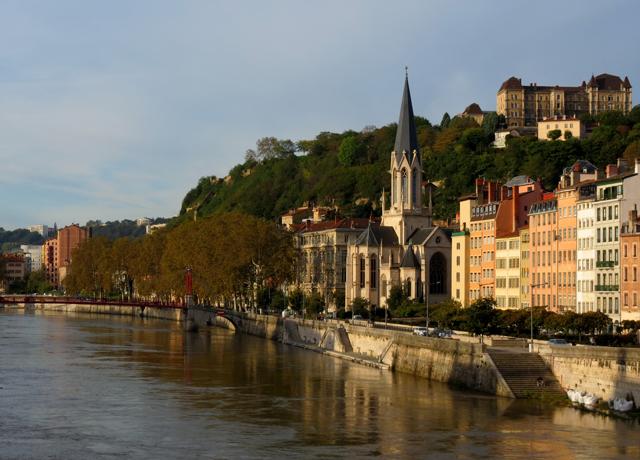 Rhone and Saone Rivers, Lyon, France