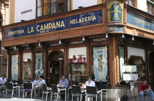 La Campana, at the end of Calle Sierpes in Seville.