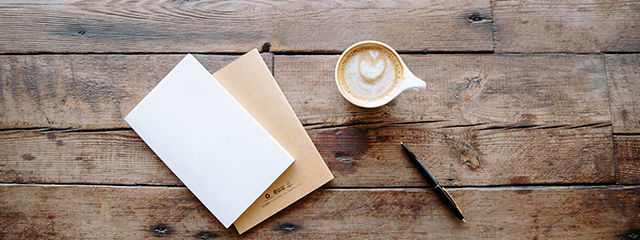Stationery and coffee