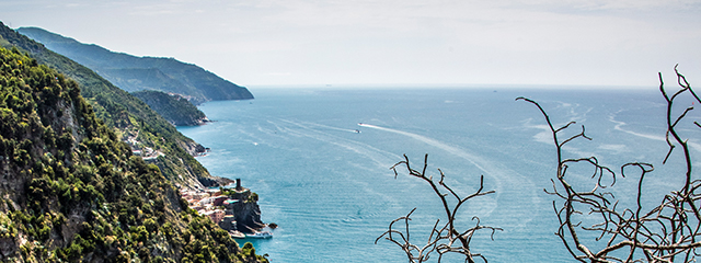 Cliff view of Cinque Terre, Italy