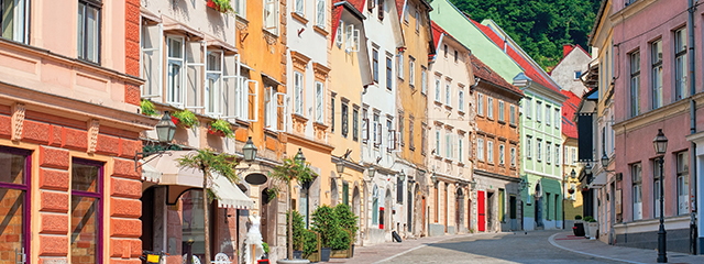 ljubljana slovenia city street