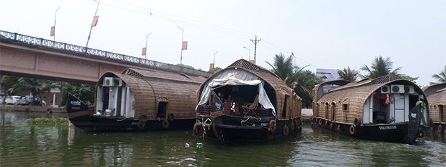 Houseboats in Kerala, India