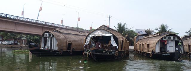 Houseboats in Kerala, India
