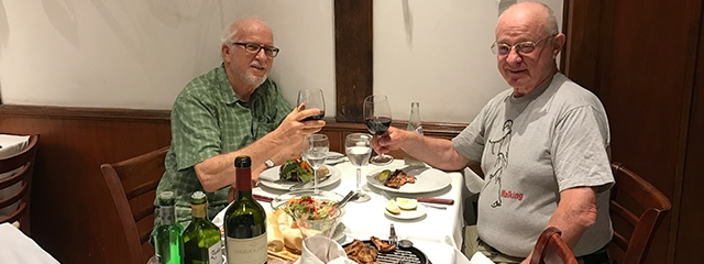 Steve and Richard at dinner in Buenos Aires