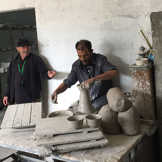 Pottery making guided tour