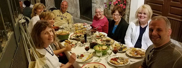 Barbara's group in Sicily
