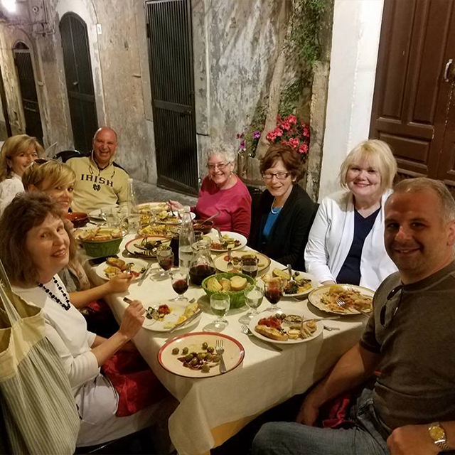 Barbara's group in Sicily