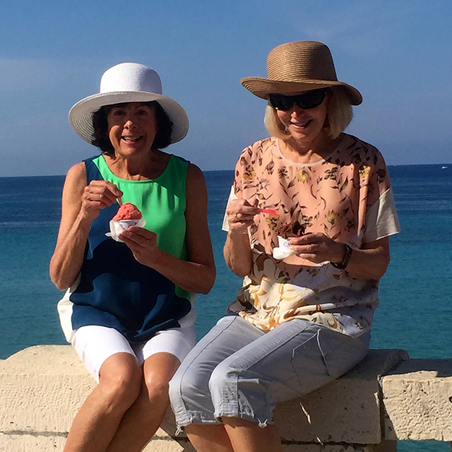Kay and Anne in Italy
