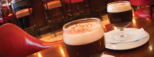 irish coffee on bar