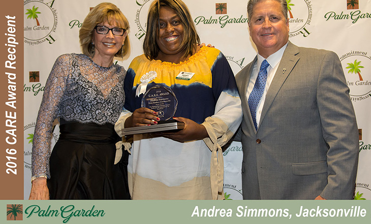 2016 CARE award recipient Andrea Simmons, Jacksonville