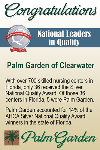 AHCA Silver National Quality Award Clearwater