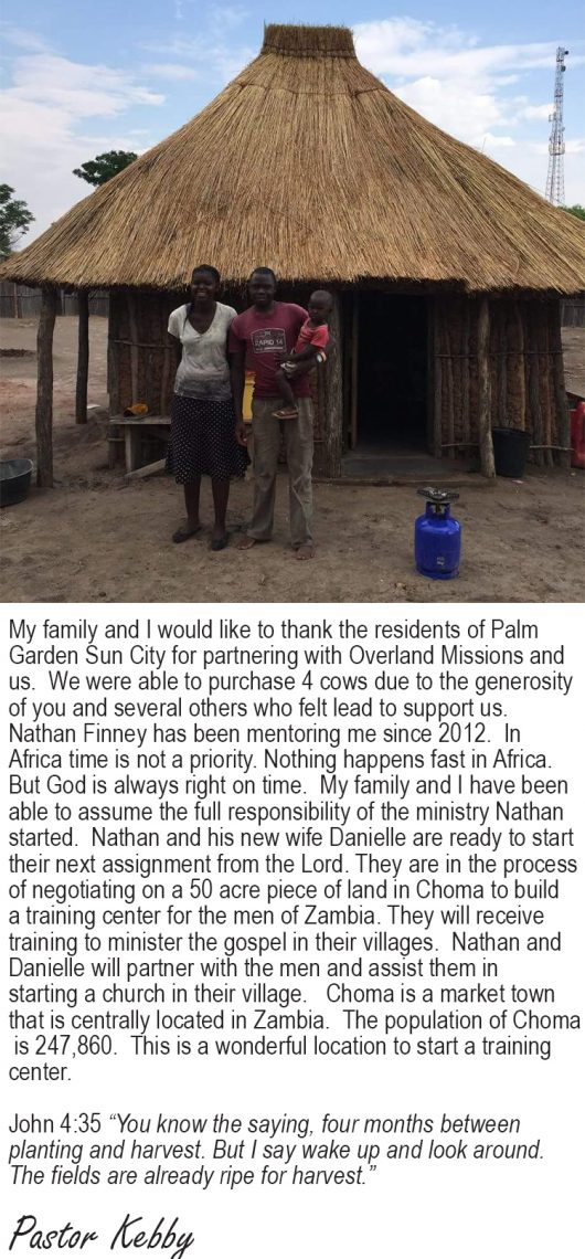 Pastor Kebby's Thank You Note