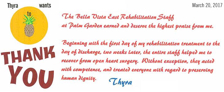 Thank you testimonials from Thyra
