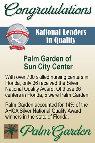 Silver National Quality award
