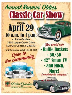 Classic Car Show event flyer