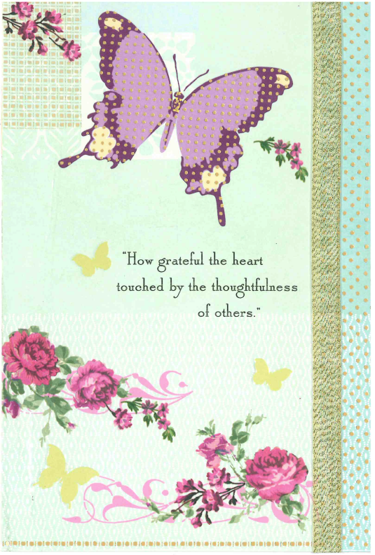Card cover with flowers and a butterfly