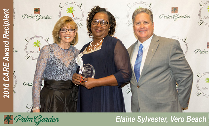 2016 CARE award recipient Elaine Sylvester, Vero Beach