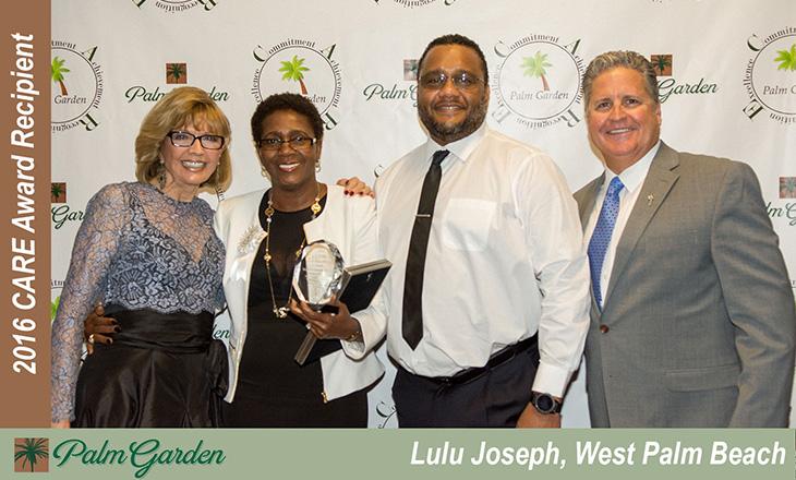 2016 CARE award recipient Lulu Joseph, West Palm Beach