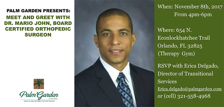 Meet And Greet With Dr. Mario John, Board Certified Orthopedic