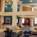 2 story waiting area and lobby