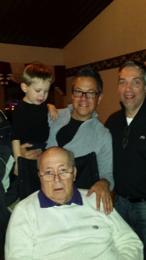 luke neumann with his family