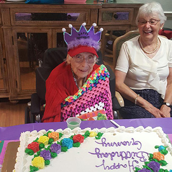 105th birthday celebration for Doris