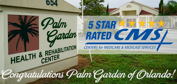 Palm Garden of Orlando 5-star rating announcement