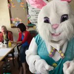 The Easter bunny visits Foothill