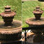 Finches cooling off in fountain