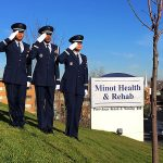 The Minot Air Force base honor guard was part of the Veteran's Day recognition at Minot Health and Rehab.