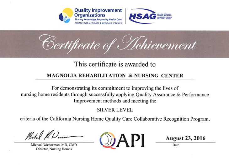 Awards - Magnolia Rehabilitation and Nursing Center