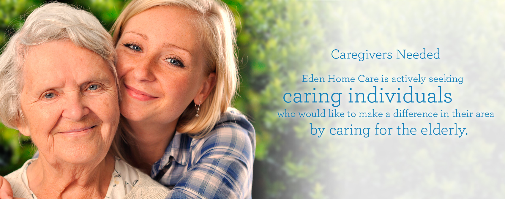 Caregivers needed banner