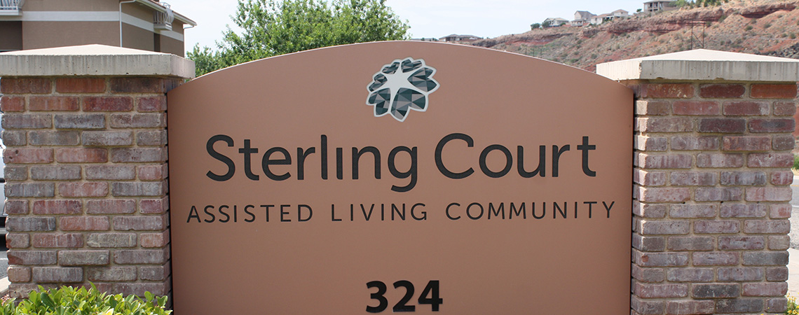 Sterling Court assisted living sign