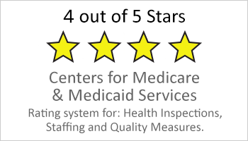 4-star Medicare & Medicaid rating button