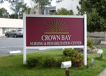 Crown Bay exterior sign