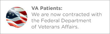 Veterans Affairs patients button