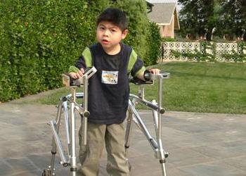 little boy with walker