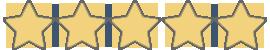 5-star-rating stars in gold