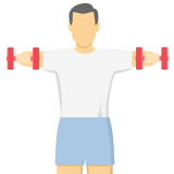 A man exercising with dumbbells icon