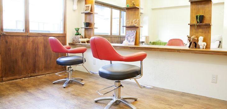 Salon chairs in a beautifully lit salon