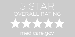 5 out of 5 star Medicare rating button